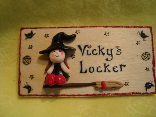 3d Personalised Flying Pretty Cute Witch Wooden Sign Any Phrasing Handmade Unique Item Halloween Samhain Pagan Wiccan